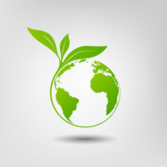 World environmental saving and ecology friendly concept
