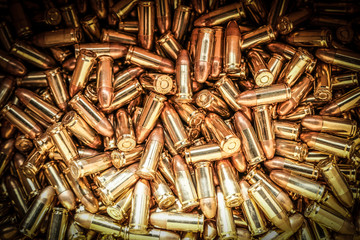 Heap of Gun Bullets 9mm Background