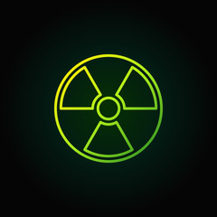 Radiation outline green icon