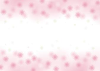 淡いピンクの花の背景イラスト