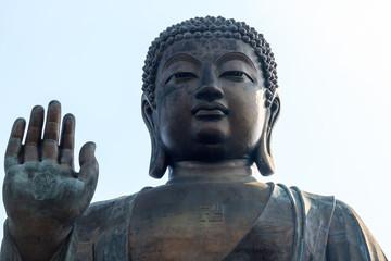 Giant Buddha statue/Po Lin Monastery at Ngong Ping,Hong Kong