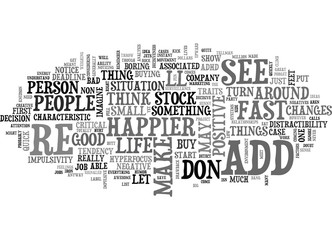 ADD SEE THE SUNNY SIDE TEXT WORD CLOUD CONCEPT
