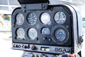 Control panel in a Cockpit of a helicopter
