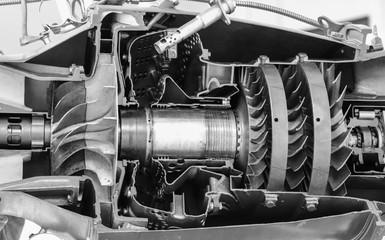 Airplane Jet Engine Turbine