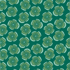 Flower Pattern. Endless Background