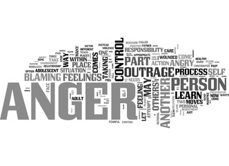 ANGER CONTROL TEXT WORD CLOUD CONCEPT