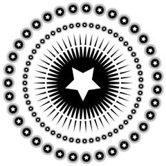 Round ornament pattern mandala.