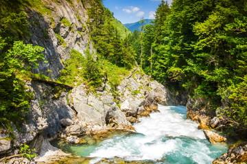 Foto auf Leinwand Fluss Stromboding Waterfall. Austria.