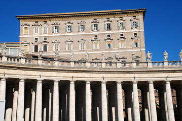 The Apostolic Palace (Palazzo Apostolico), the official residence of the Pope