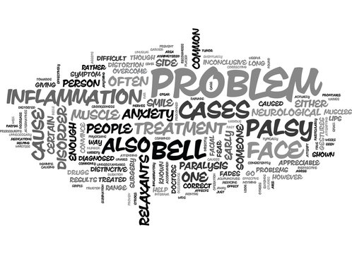 BELLS BUT NO WHISTLES BELL S PALSY TEXT WORD CLOUD CONCEPT