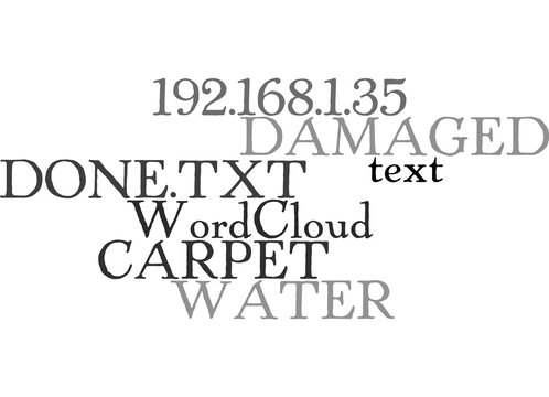 WATER DAMAGED CARPET WHAT CAN BE DONE TEXT WORD CLOUD CONCEPT