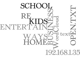 WAYS TO ENTERTAIN YOUR KIDS WHEN THEY RE OFF SCHOOL BUT YOUR HOME BUSINESS IS OPEN TEXT WORD CLOUD CONCEPT