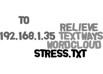 WAYS TO RELIEVE STRESS TEXT WORD CLOUD CONCEPT