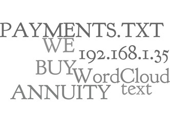WE BUY ANNUITY PAYMENTS TEXT WORD CLOUD CONCEPT