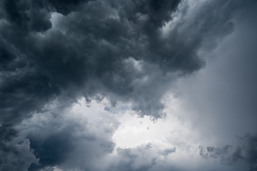 clouds with background,sunlight through very dark clouds background of dark storm clouds,black sky Background of dark clouds before a thunder.