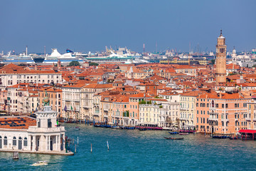 Aerial view of Venice.