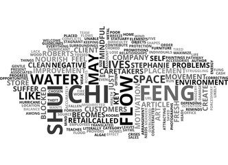 WHAT IS FENG SHUI AND HOW DOES IT WORK TEXT WORD CLOUD CONCEPT