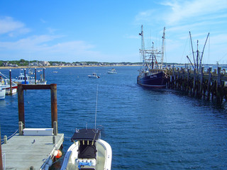 Fishing Boats in Provincetown Harbor, Cape Cod, Massachusetts, New England