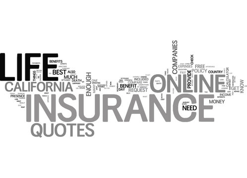 WHAT S THE BIG DEAL ABOUT ONLINE LIFE INSURANCE QUOTES TEXT WORD CLOUD CONCEPT