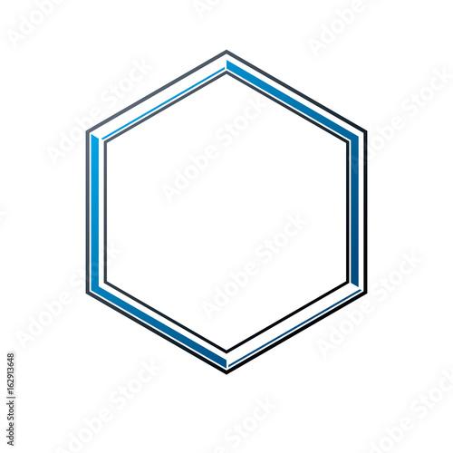 victorian art vector hexagonal frame with blank copy space heraldic
