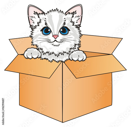 quot kitten  cat  animal  friend  pet  cartoon  meow  claws Toy Store Clip Art empty toy box clipart