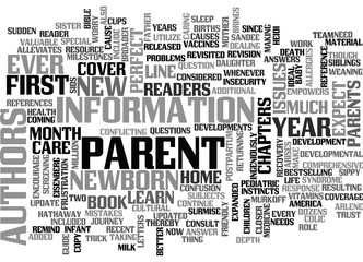 WHAT TO EXPECT YOUR FIRST YEAR AS A PARENT TEXT WORD CLOUD CONCEPT