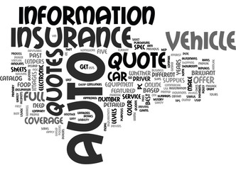 WHAT YOU NEED TO GET AN AUTO INSURANCE QUOTE TEXT WORD CLOUD CONCEPT