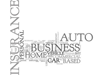 WHAT YOU NEED TO KNOW ABOUT HOME BASED BUSINESS AUTO INSURANCE TEXT WORD CLOUD CONCEPT