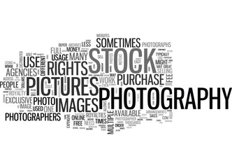 WHATDOYOUKNOWABOUTSTOCKPHOTOGRAPHY TEXT WORD CLOUD CONCEPT