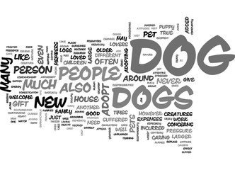 WHEN TO NOT ADOPT A DOG TEXT WORD CLOUD CONCEPT