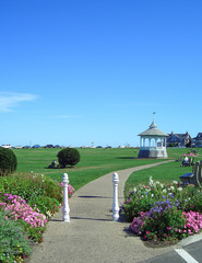 Park in Oak Bluffs on Martha's Vineyard, Massachusetts, New England