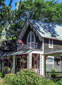 Gingerbread Cottage at the Martha'x Vineyard Camp Meeting Association, Massachusetts, New England