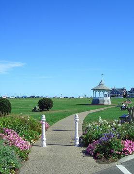 Park in Oak Bluffs on Martha's Vineyard, Massachusetts, New England