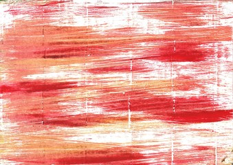 Vivid tangerine abstract watercolor background