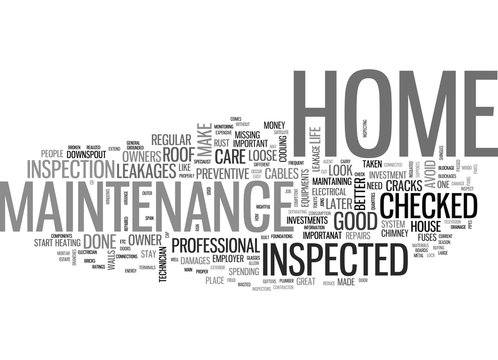 WHY CARE ABOUT HOME MAINTENANCE TEXT WORD CLOUD CONCEPT