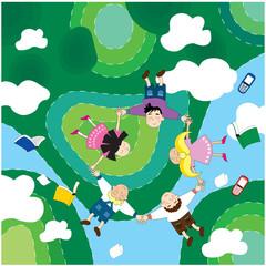 flying children summer