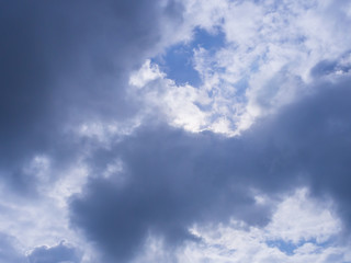 Cloudy on blue sky,Pamoramic view,A lot of clouds