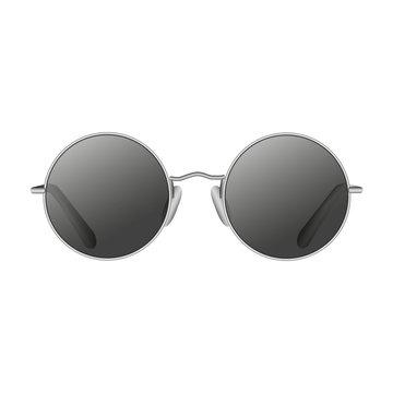Round lennon sunglasses vector illustration