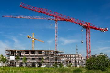 Baustelle bauen Zukunft wohnen
