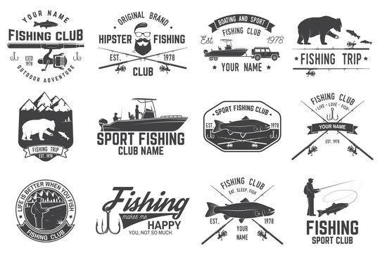 Fishing sport club. Vector illustration.