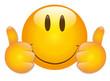 Beide Daumen hoch Smiley - Vektor