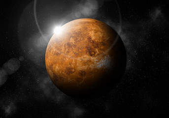 second planet from the Sun is Venus ,Solar system planetarium.
