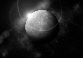 First planet from the Sun is Mercury ,Solar system planetarium.