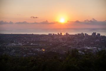 Panorama of Dawn in the City Georgia Batumi