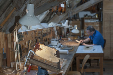 Craftsman working at workshop