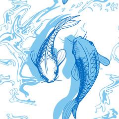 Koi fish vector illustration