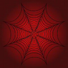 spider web, cobweb on red dotted background. illustration Resterized copy