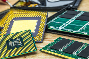 few different processors also RAM memory module and SSD
