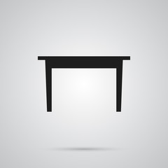 Isolated Dining Table Icon Symbol On Clean Background. Vector Desk Element In Trendy Style.