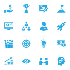 Set Of 16 Idea Icons Set.Collection Of Meeting, Money Growth, Call Center And Other Elements.